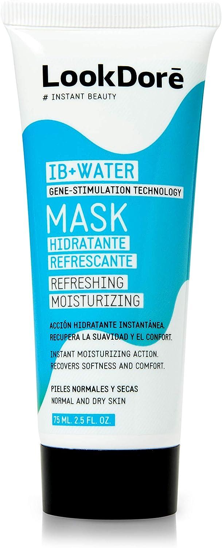 Lookdoré IB+Water Mascarilla Facial Hidratante Calmante - Piel Seca o Sensible - Mascarilla de Arcilla Blanca 75ml