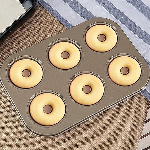 FRFJY Horneado Molde Pastel Donut Pan Redondo Carbono Acero Hueco ...