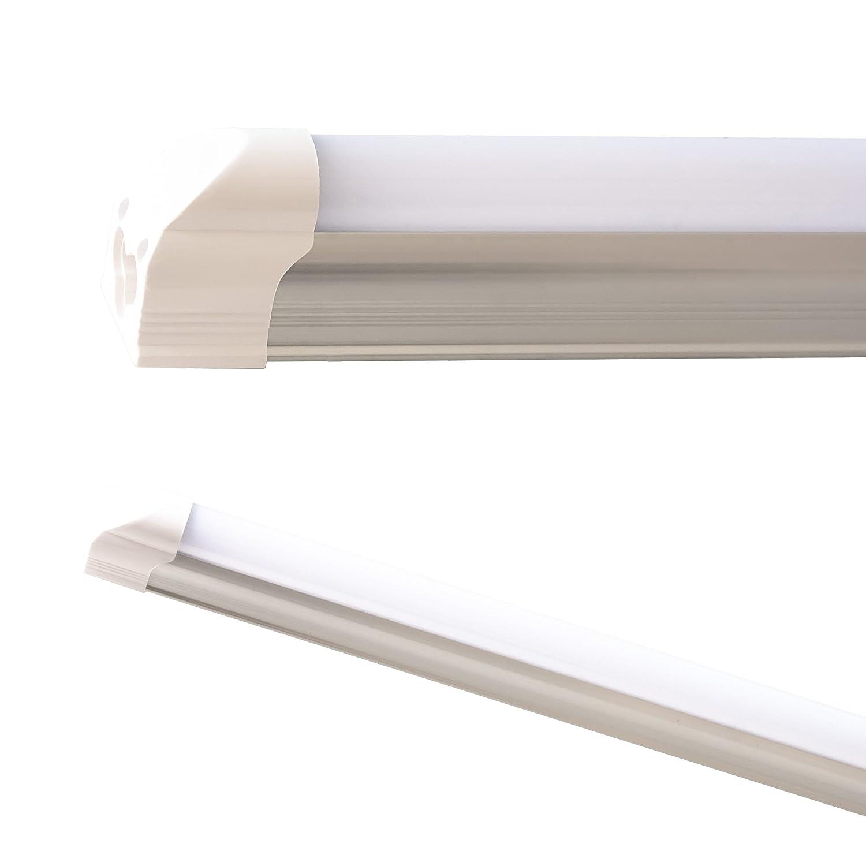 Couvercle laiteux et transparent blanc chaud et blanc neutre 60 cm Tube fluorescent blanc chaud 120/cm 90/cm T5 8watts 150/cm Aluminium Plastique 60/cm Blanc froid Barre lumineuse LED T5/LEDVero