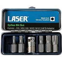 Laser 0592 Juego de Brocas de Ranura, 6