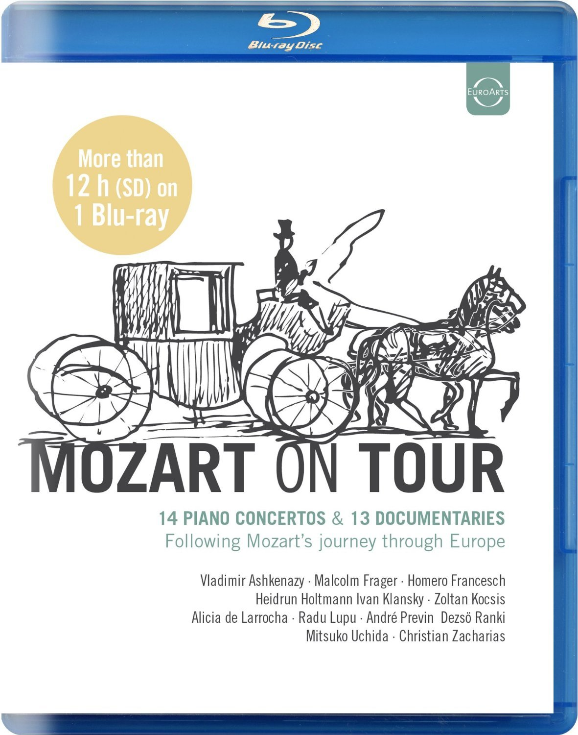 The coloring book tour opener - Amazon Com Mozart On Tour 14 Piano Concertos 13 Documentaries Following Mozart S Journey Through Europe Blu Ray Andr Previn Malcolm Frager