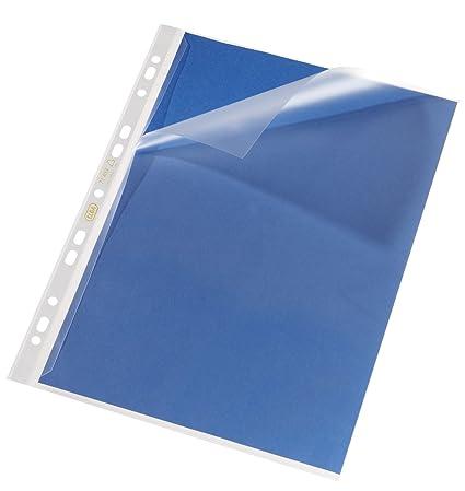 ELBA 100 Prospekthüllen transparent genarbt Neu!!