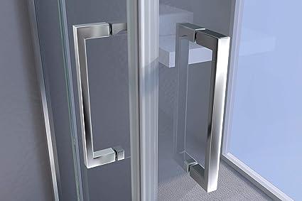mampara de ducha gotas. modelo Star. 2 lados de cristal templado 6 mm de grosor con Doble puerta Corredera sobre EL Ángulo de 200 cm de alto: Amazon.es: Bricolaje y ...