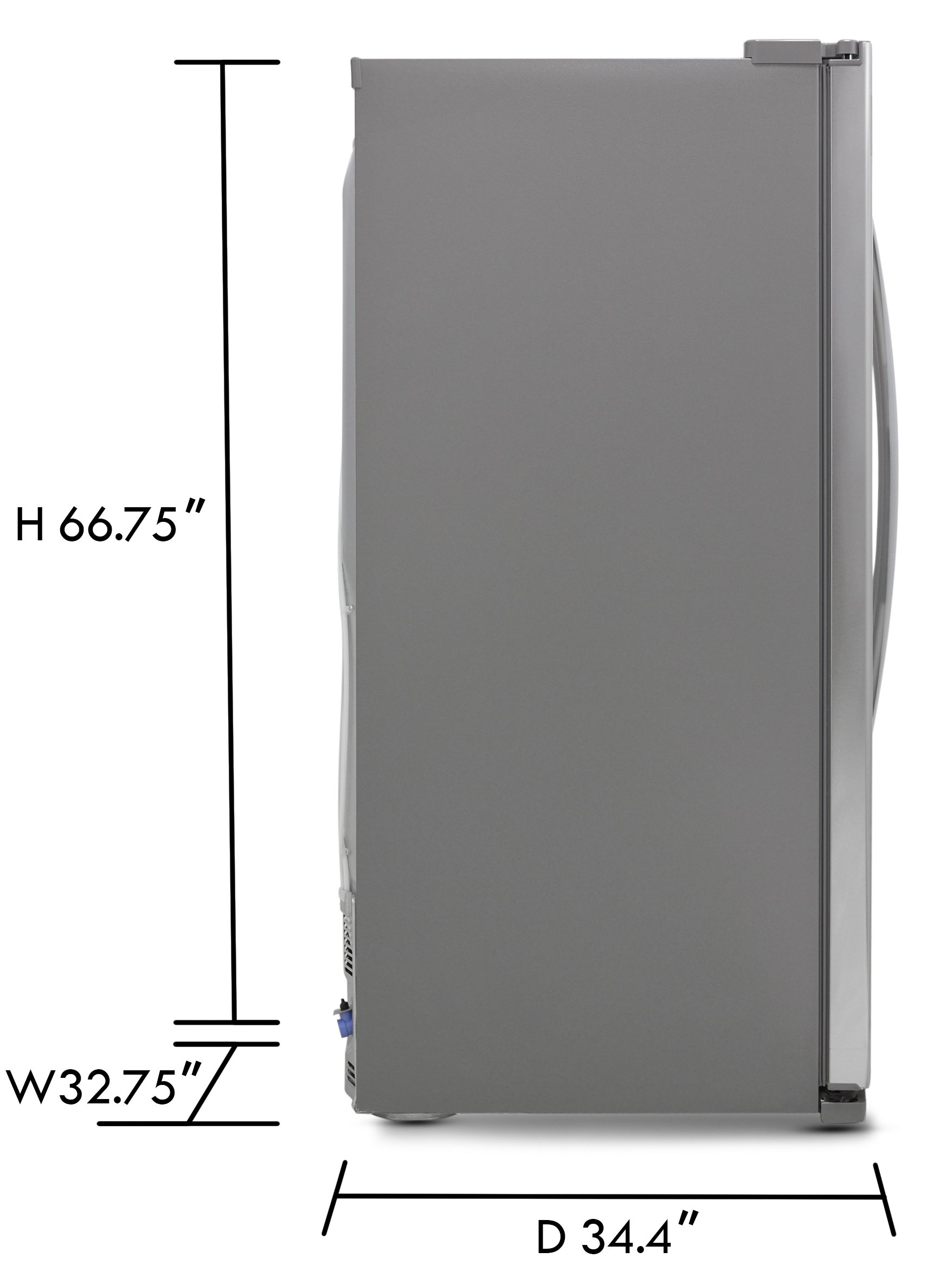Kenmore Elite 51823 21.9 cu. ft. Side-by-Side Refrigerator in Stainless Steel, includes delivery and hookup (Available in select cities only) by Kenmore (Image #3)