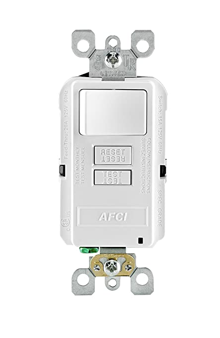 Cool Leviton Afsw1 W Smartlockpro Outlet Branch Circuit Combination Arc Wiring Cloud Pendufoxcilixyz