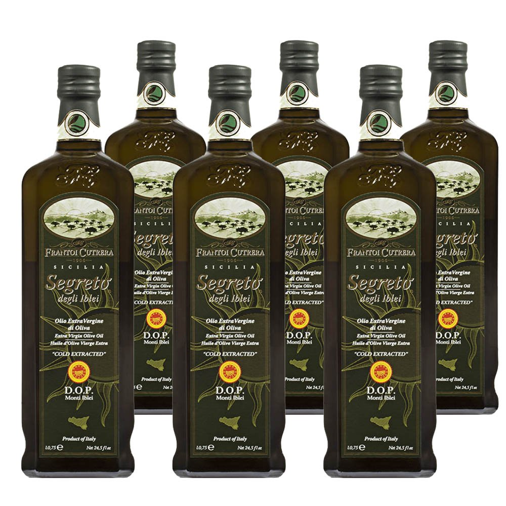 Frantoi Cutrera Segreto Degli Iblei Cold Extracted Extra Virgin Olive Oil D.O.P - Product of Italy, 24.5fl.oz (6 pack) by Frantoi Cutrera (Image #1)
