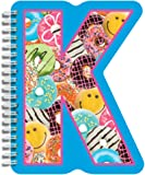 iscream Letter K Shaped Initial Notebook