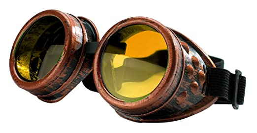 4sold (TM Steampunk Antique Copper Cyber Goggles Rave Goth Vintage Victorian Like Sunglasses All Pictures (Goggle Copper with