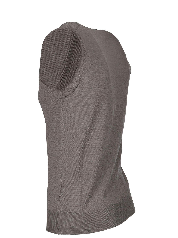 MORENO MARTINELLI Mens 542285A128 Grey Wool Vest