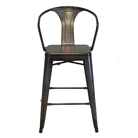 Magnificent Amazon Com Design Tree Home Retro Cafe Tolix Marais Style Squirreltailoven Fun Painted Chair Ideas Images Squirreltailovenorg