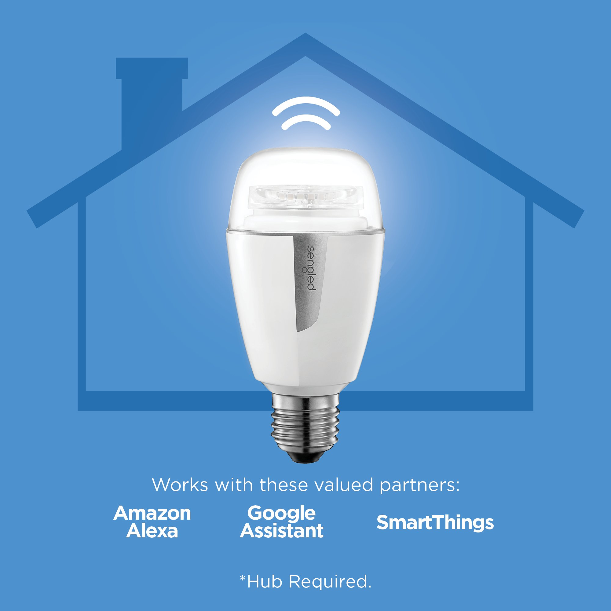 Sengled Element Plus Smart LED Light Bulb (Hub Required), A19 Dimmable LED Light Tunable White 2700-6500K 60W Equivalent, Works with Alexa/Echo Plus/SmartThings/Google Assistant, 1 Pack by Sengled (Image #2)