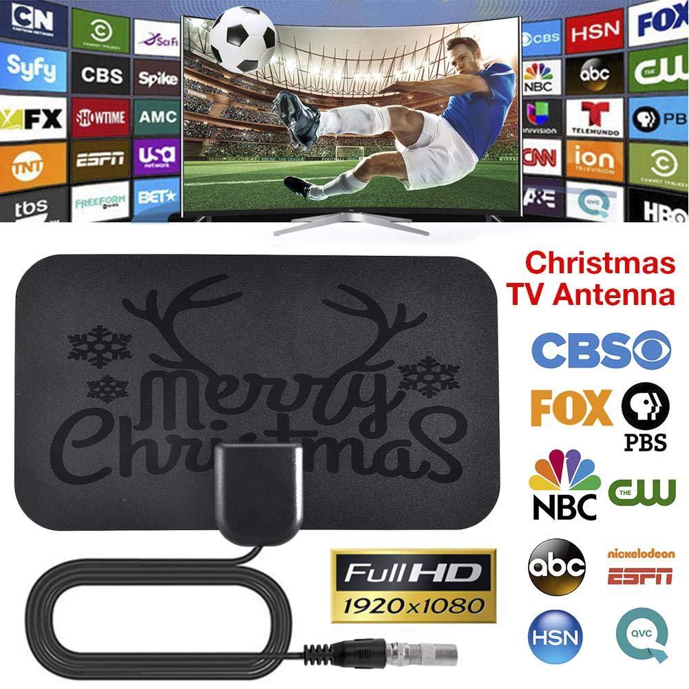bouncevi Antena de TV Digital Mini HD de Navidad Antena de TV HD Standard
