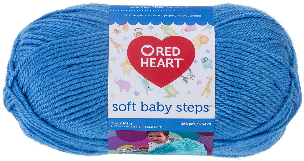 RED HEART Soft Baby Steps Yarn, Baby Blue E746.9800