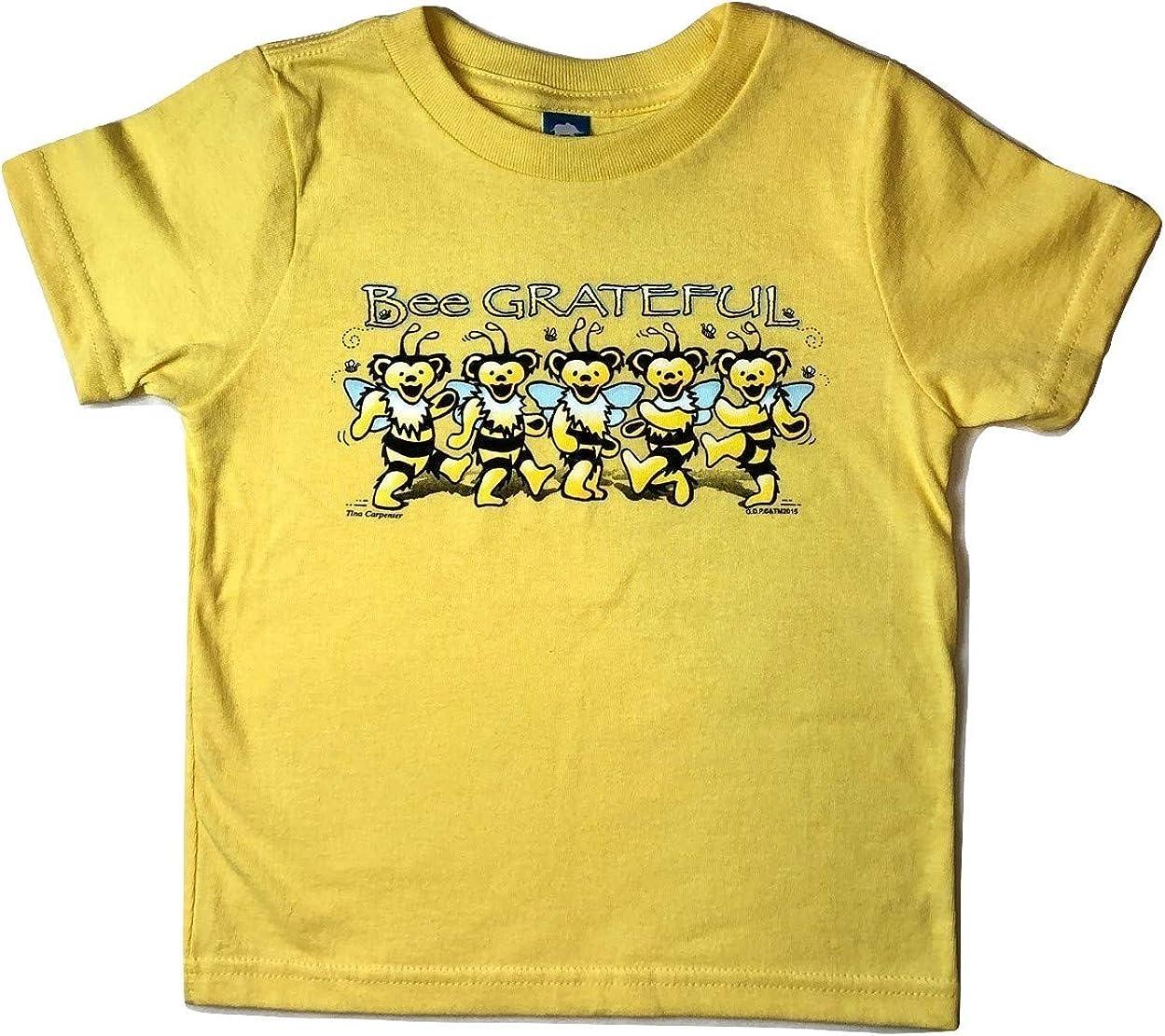 Grateful Dead Toddler Bee Grateful T Shirt by Dye The Sky