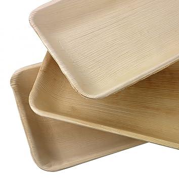 Somani hoja de palmera 10 * 6 rectangular plato/bandeja (ajo ...