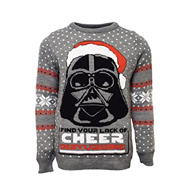 star wars official darth vader christmas jumperugly sweater uk lus m
