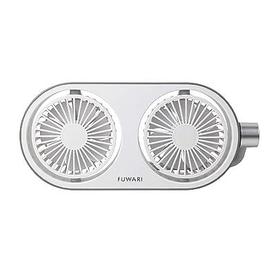 山善 AC電源対応USB扇風機 FUWARI 風量3段階タッチスイッチ式 YTT-C50(LW) 送料込645円