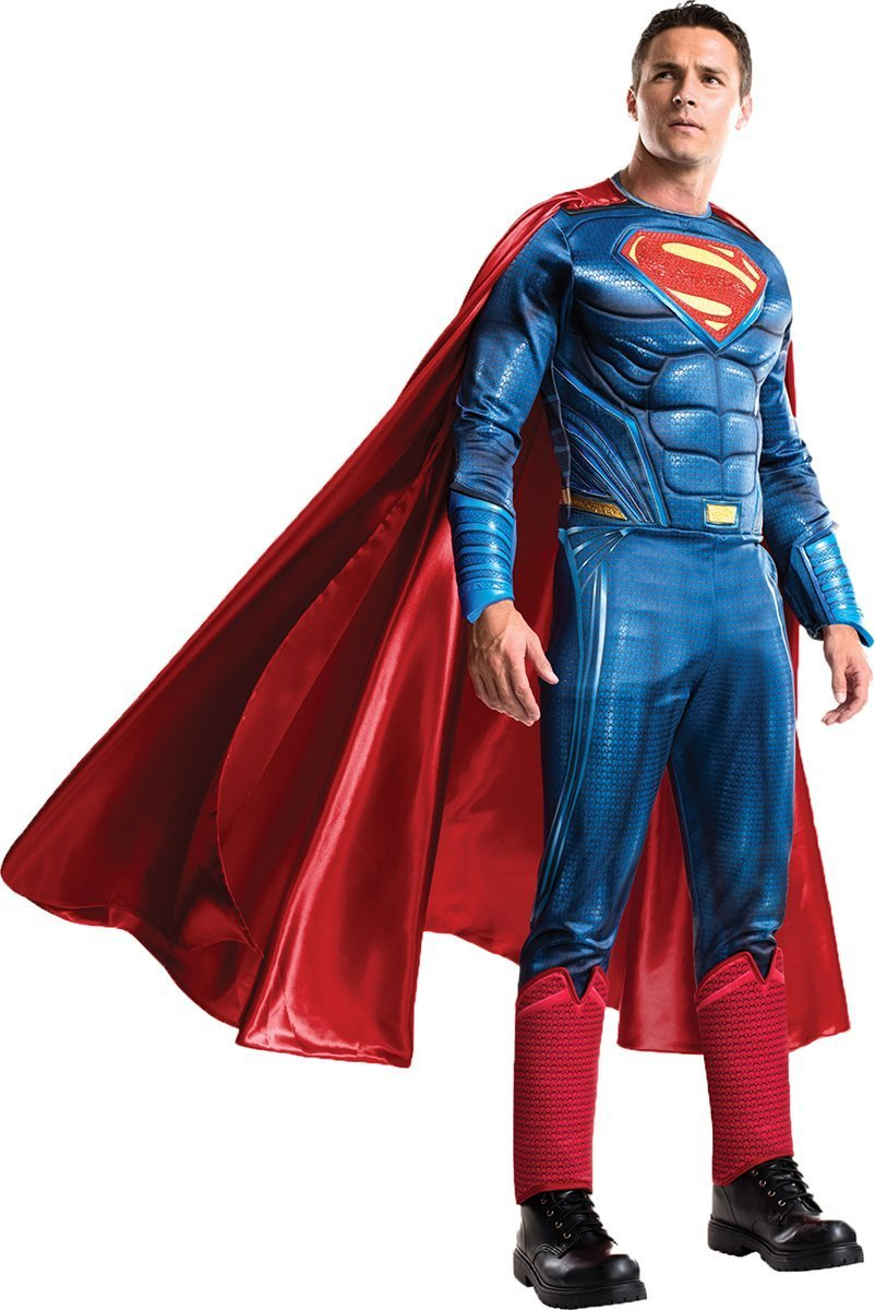 Rubie's Men's Batman v Superman: Dawn of Justice Grand Heritage Superman Costume, Multi, One Size