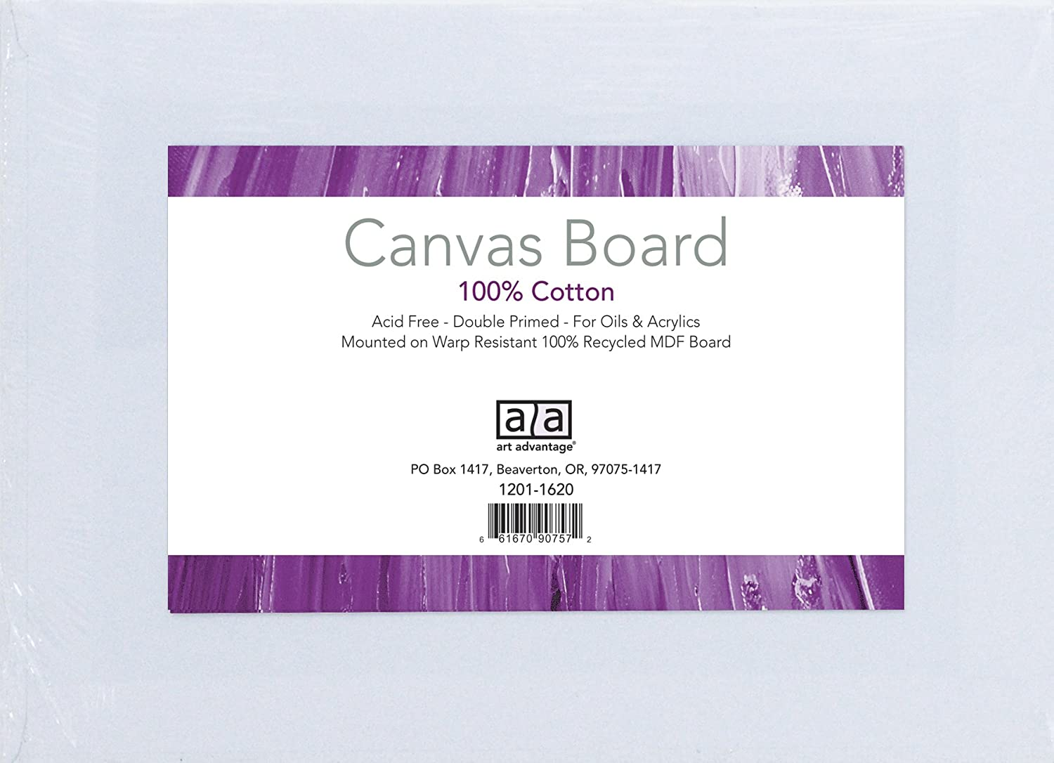 Art Advantage 6-Inch by 8-Inch Canvas Board, 3-Pack 1230-06