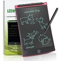 NEWYES Tablette d'écriture LCD numérique Ewriter NYWT085A- 8.5 Pouces Tablette Graphique Portable Tableau Blanc Tablette Robuste Convient pour l'école à Domicile Bloc-Notes de Bureau(Rouge)