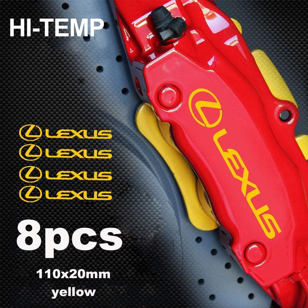 luluda for Lexus 2JZ is 250 HI-Temp Premium Brake Caliper Decals Stickers CAST Vinyl Black
