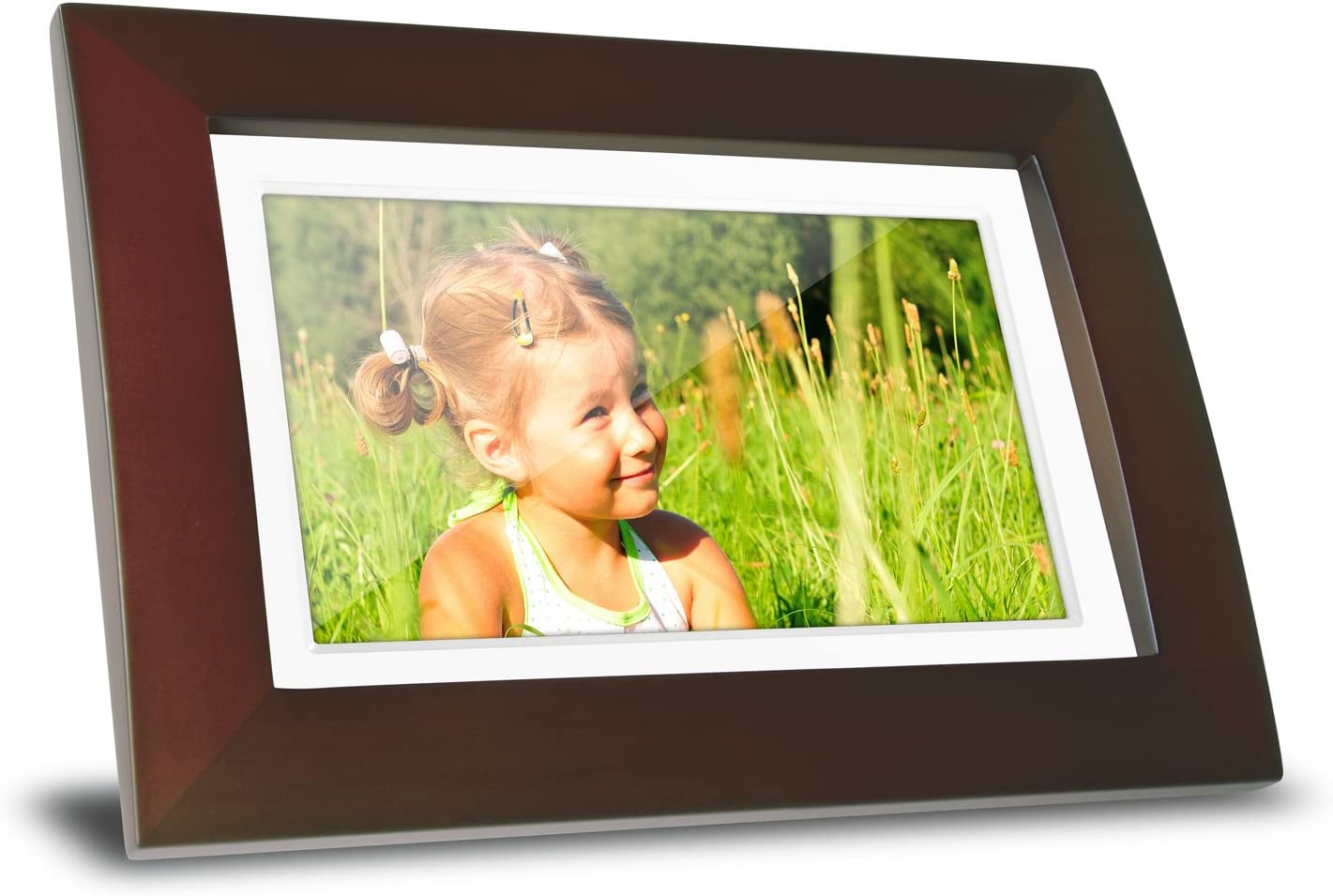 ViewSonic VFA720W-10 7-Inch Digital Picture Frame Wooden