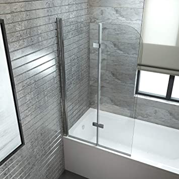 Badewanne Mit Duschwand.Emke Duschabtrennung 100x140cm Faltwand Fur Badewanne Duschwand