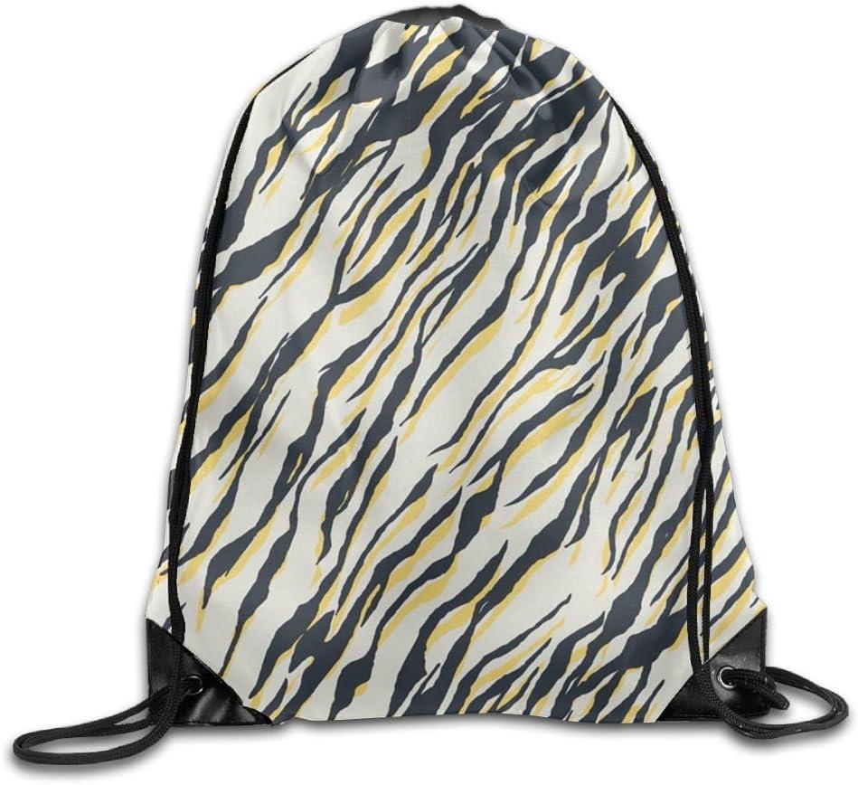 VIMUCIS Zebra Stripe Drawstring Backpack Rucksack Shoulder Bags Training Gym Sack For Man And Women