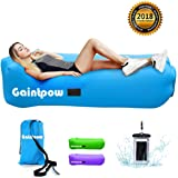 Inflatable Lounger, Gaintpow Waterproof Air Lounger with Thicker Fabric, Portable Lazy Lounger Inflatable Sofa Couch, Outdoor Sofa for Camping, Hiking, Swimming Pool, Beach, Backyard, Travelling, 2018 Improved Version - Hold Up To 500lb