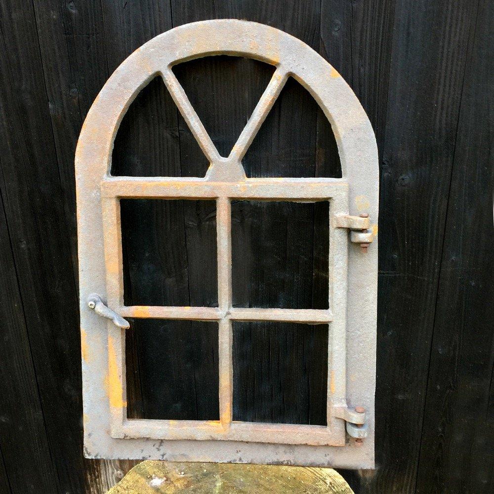 Antikas 57,5 cm x 39,5 cm Gusseisen Fenster in antik-l/ändlichem Design Stallfenster zum /Öffnen