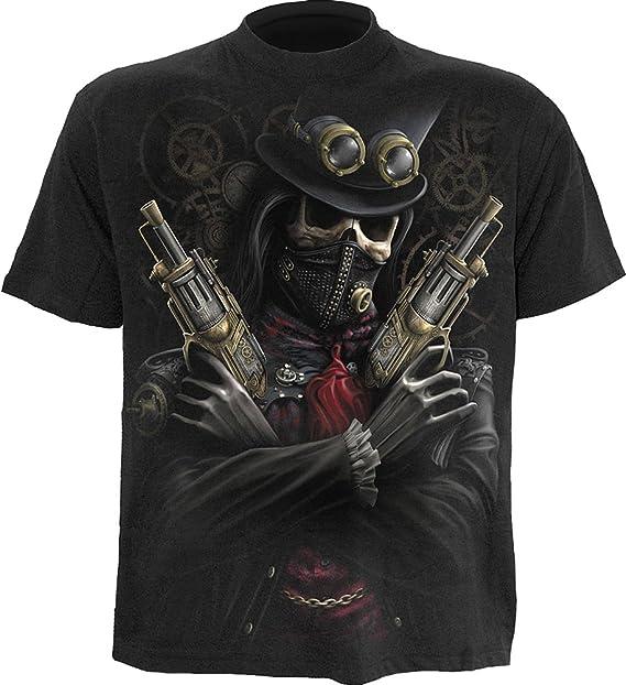 Amazon.com: Espiral – Mens – Steam Punk Bandit – Camiseta ...