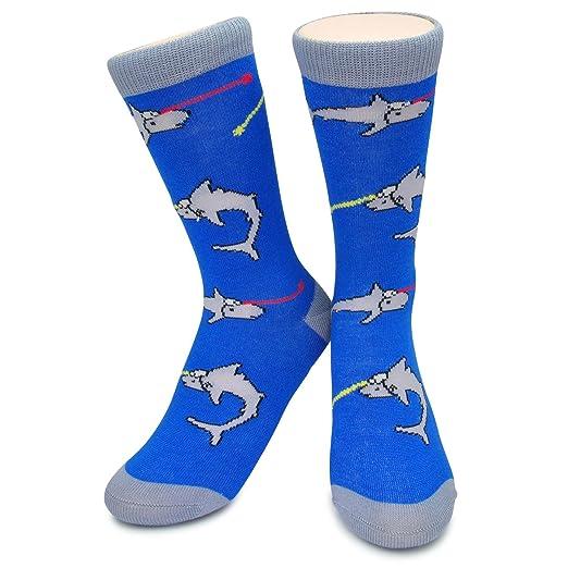 amazon com funky novelty socks sharks with fricken lasers austin