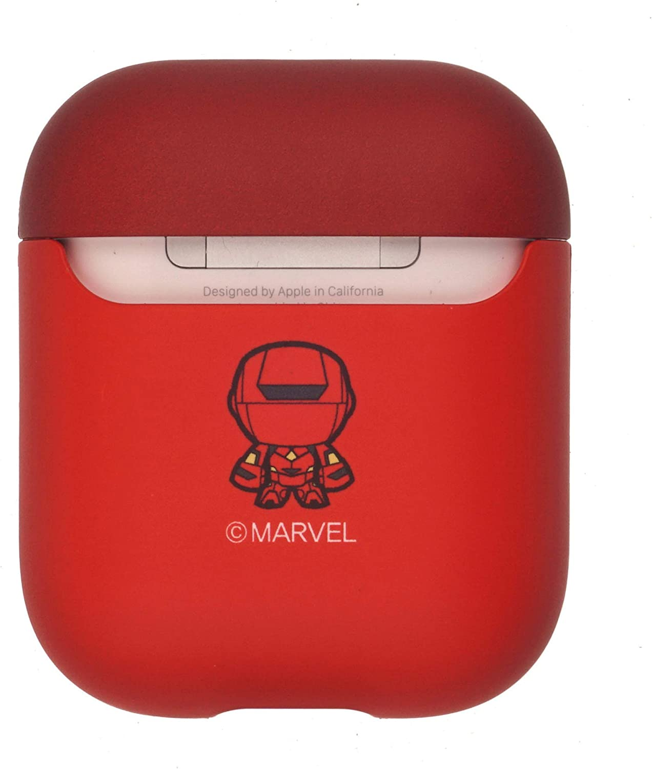 Avengers AirPods Case Protective Hard PC Shell Cute Cover Front LED Visible Shadow Captain America Accessories Compatible with Apple Airpods 1 /& AirPods 2