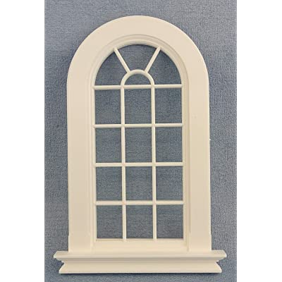 Melody Jane Dolls House White Plastic Georgian Tall Arched Window 16 Pane 1:12 DIY Builders: Toys & Games