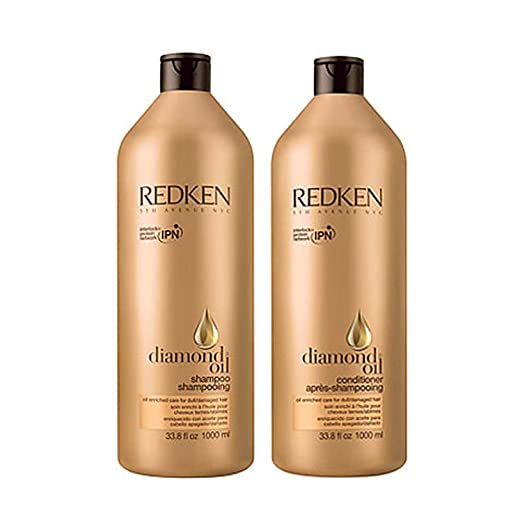 Redken Diamond Oil Shampoo and Conditioner Liter Duo 33.8 ea. Hair Care & Styling at amazon