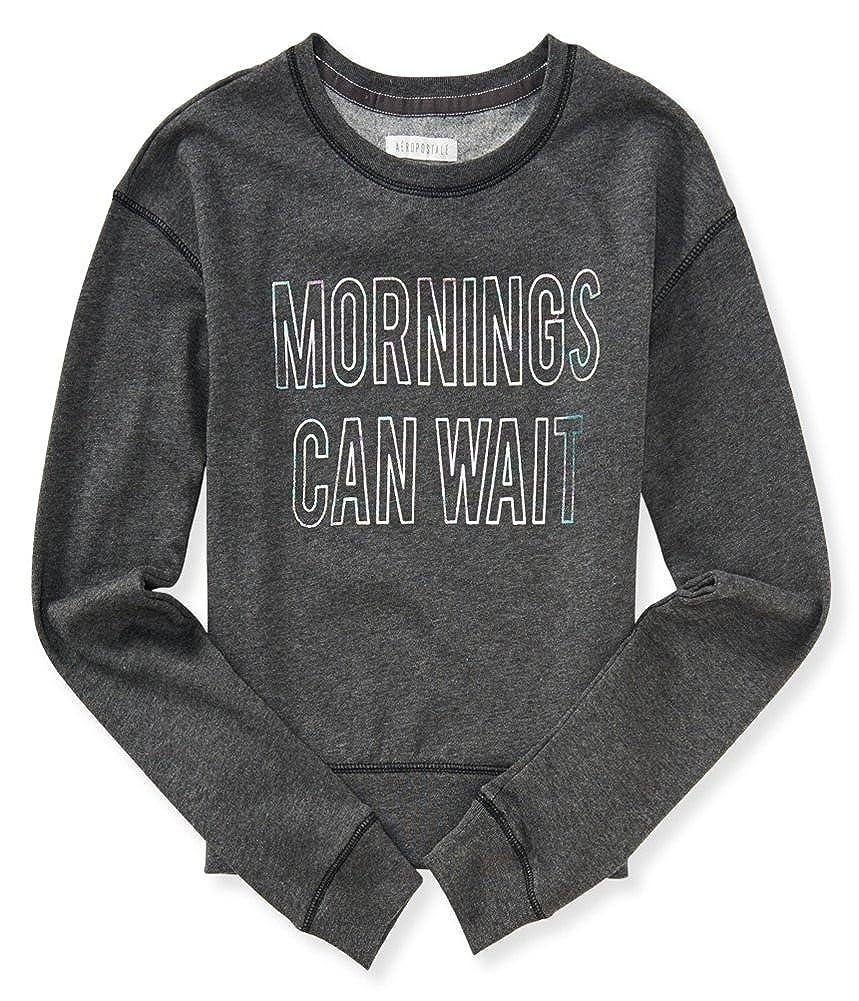 Aeropostale Womens Mornings Can Wait Sweatshirt