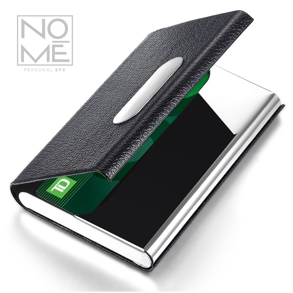 Amazon.com: NOMĒ Slim Business Credit Card Holder - Minimalist Case ...