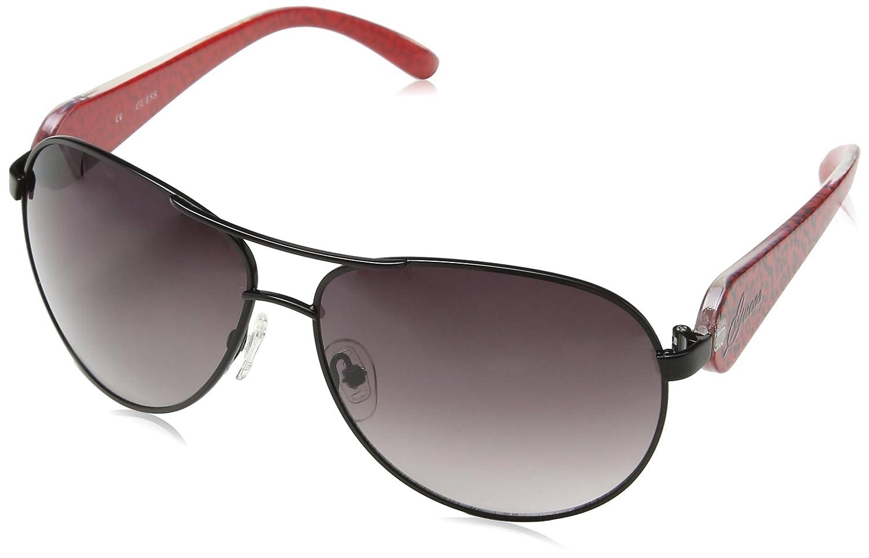 Guess Guf213Blk-3560 Gafas de Sol, Negro, 60 para Mujer