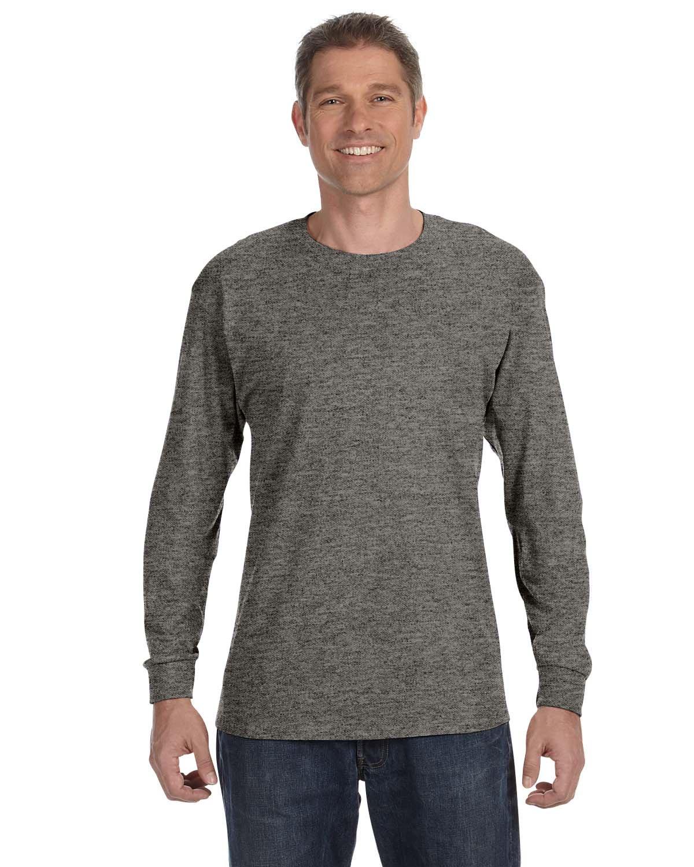 Gildan Mens 5.3 oz. Heavy Cotton Long-Sleeve T-Shirt G540 -GRAPHITE HEA 3XL by Gildan