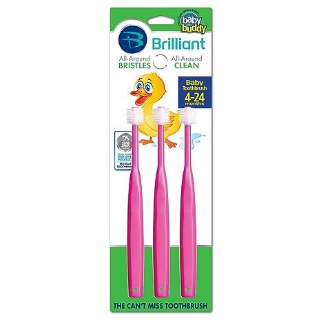 Baby Buddy 360 - Cepillo de dientes rosa Talla:3 count
