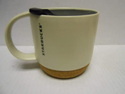 4cbc33ee657 Image Unavailable. Image not available for. Color: Starbucks Cork Mug -  Cream, 12 fl oz