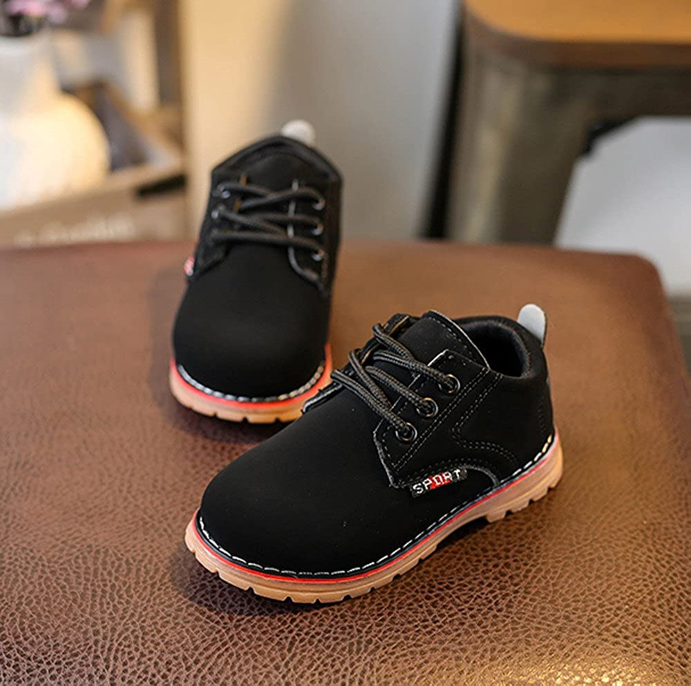 Lurryly Children Fashion Boys Girls Martin Sneaker Boots Lace Up Kids Baby Casual Shoes