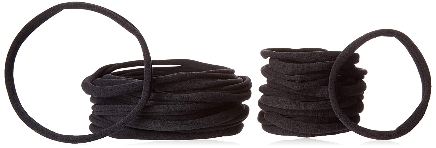 Get A Grip Hair Ties by Simply Elegant:Seamless, Ouchless Nylon Hair Bands w/Bonus Travel Bag: XL & Medium Pack of 30 Good for braids, natural hair & workouts Best in Long Hair Products & Protection
