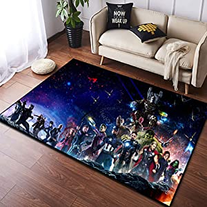 Area Rugs 3D Digital Print Superhero Graphic Carpet Living Room Bedroom Sofa Mat Door Mat Kitchen Bathroom Mat Carpet Bath Mats for Home Decoration