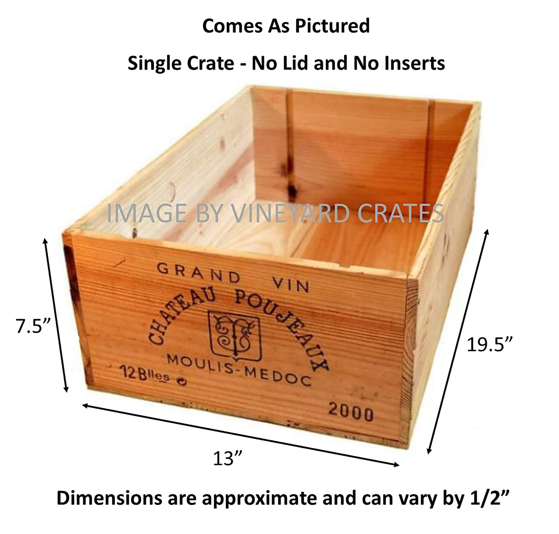 Amazon.com: Vineyard Crates One (1) Caja de madera ...