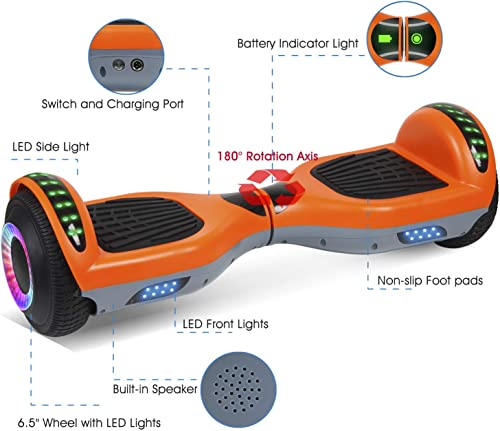 VEVELINE Hoverboard with Bluetooth Speaker
