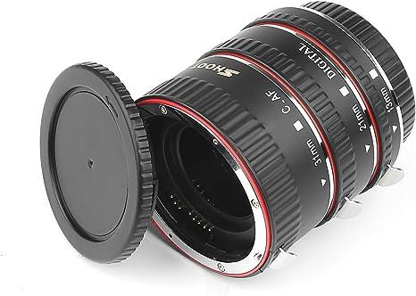 Dispara Enfoque Automático AF Tubo de Extensión Macro Set Para Canon EOS EF EF-S Lente DSLR..