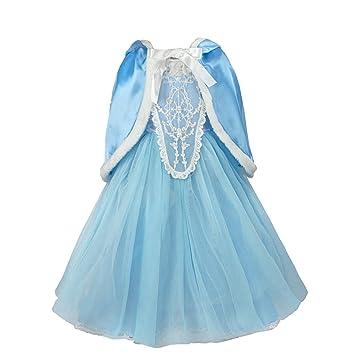 Discoball Madchen Elsa Kleid Eiskonigin Cinderella Prinzessin Kostum