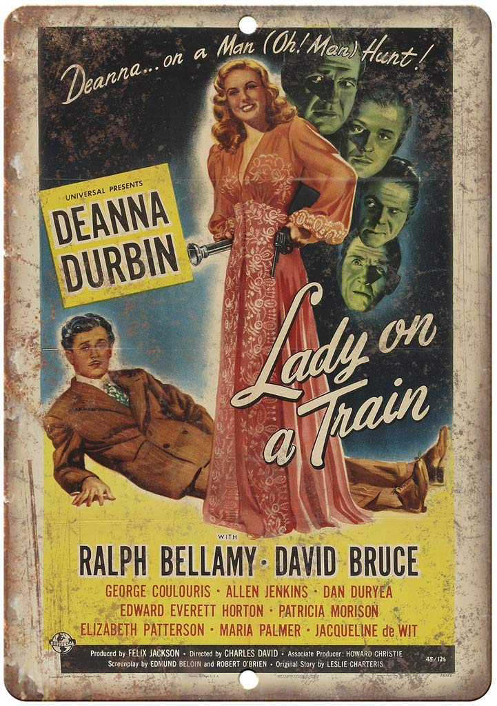 Lady on a Train Deanna Durbin Movie Póster de Pared Metal ...