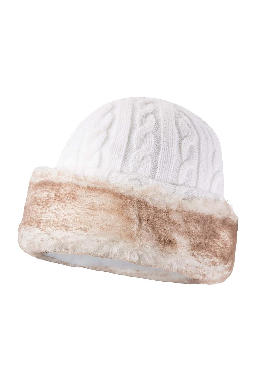 Fodera in Pile Calore con Faux Fur per Mantenere la Testa Calda e isolata Questo Inverno Trendy Mountain Warehouse Cappello Furry da Donna